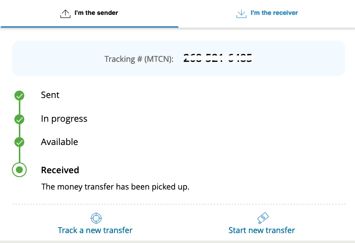 Track Your Western Union Money Transfer