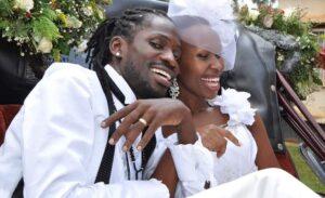 Bobi wine and wife wedding photos