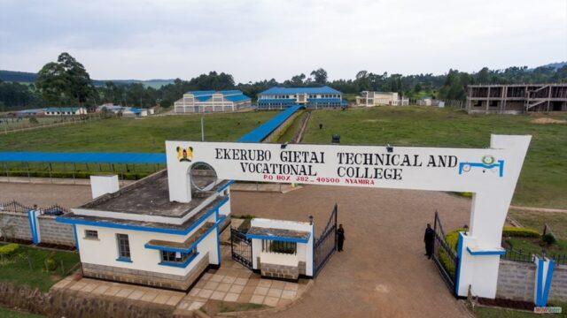 Ekerubo Gietai Technical Training Institute, Student's Portal, Courses, Fee Structure
